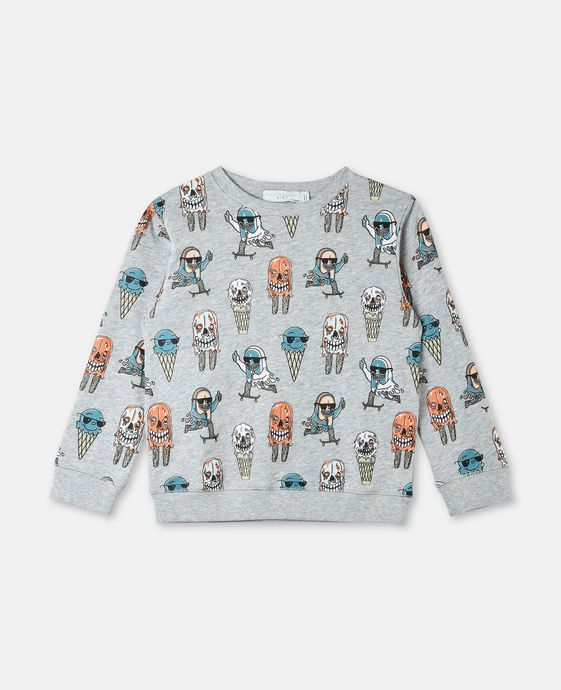 Biz Ice Cream Print Sweater