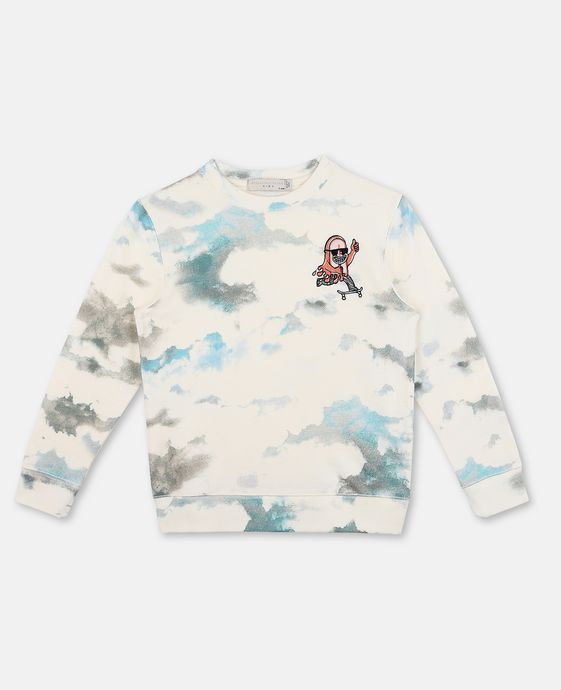 Biz Clouds Print Jumper