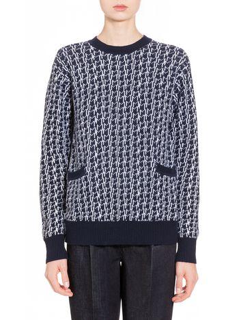Marni Cardigan in lana vergine lavorazione jacquard Donna