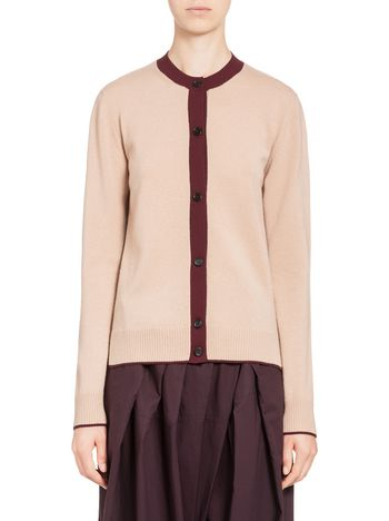 Marni Cardigan in stocking-stitched cashmere Woman