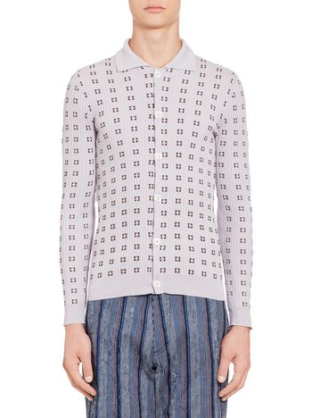 Marni Sweater in lightweight cotton with check pattern Man