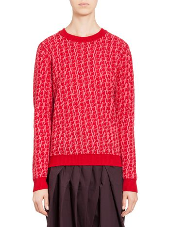 Marni Knit in jacquard wool Woman
