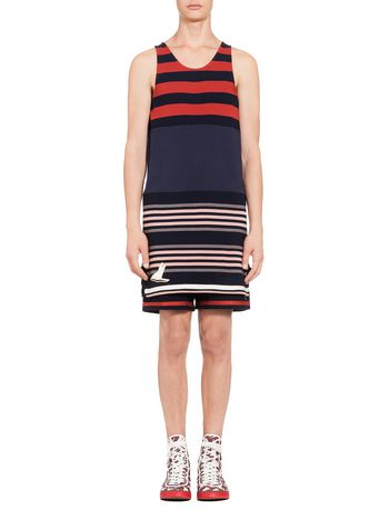Marni Crewneck sweater in lightweight cotton with stripes Man