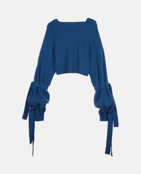 Topaz Knit Hooded Jumper