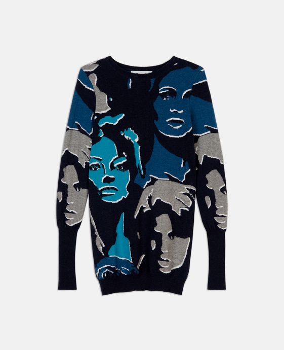Faces Print Sweater