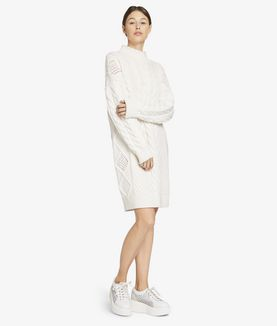 KARL LAGERFELD CABLE TUNIC WITH PEARLS