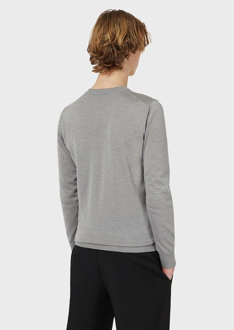 Crewneck Sweater in Virgin Wool
