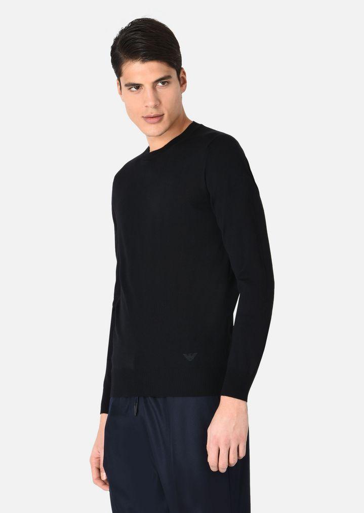 778402f93a8d EMPORIO ARMANI Crewneck Sweater in Virgin Wool Sweater Man f