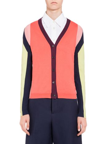 Marni Inlaied cardigan in cotton Woman