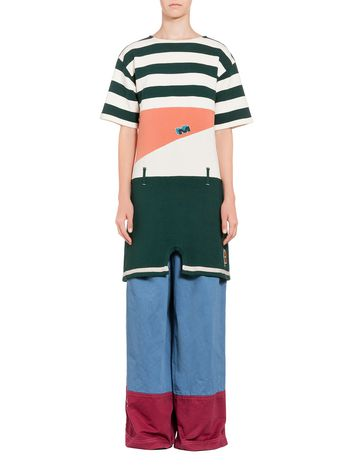 Marni Striped knit in cotton and jersey Woman