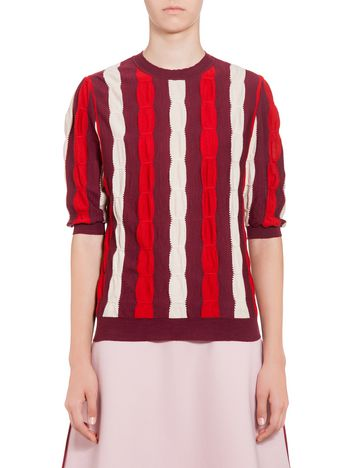 Marni Wool sweater with embossed inlay  Woman