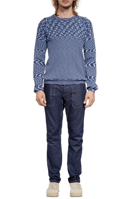 MISSONI Crew-neck Blue Man - Back