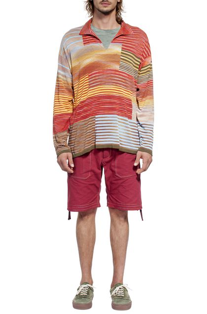 MISSONI Sweater Brick red Man - Back
