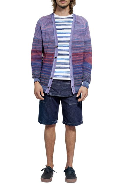 MISSONI Cardigan Purple Man - Back