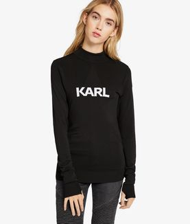 KARL LAGERFELD IKONIK KARL FITTED SWEATER