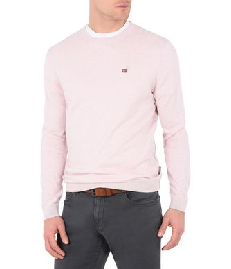NAPAPIJRI DECATUR CREW NECK MAN CREWNECK,LIGHT PINK