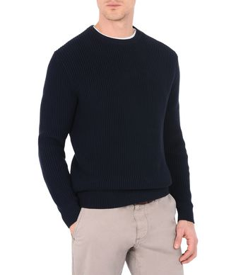 NAPAPIJRI DIRICO MAN CREWNECK SWEATER,DARK BLUE