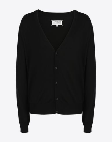 MAISON MARGIELA Cardigan U Cotton-wool blend V-neck cardigan f