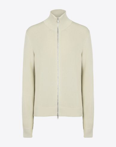 MAISON MARGIELA Cardigan U Zip-up rib knit sweater f