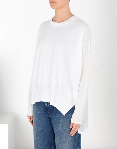 MM6 MAISON MARGIELA Long sleeve sweater D Asymmetric crewneck sweater f
