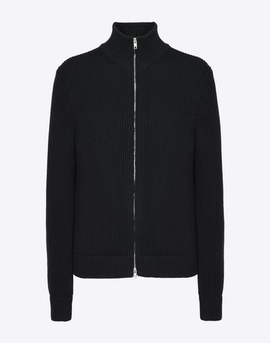 MAISON MARGIELA Cardigan U Rib knit zip-up sweater f