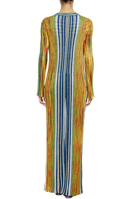 MISSONI Long cardigan Gold Woman - Front