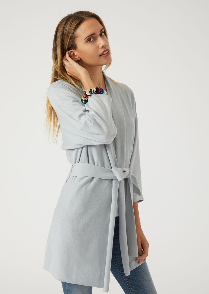 bba3b866c Belted long cardigan