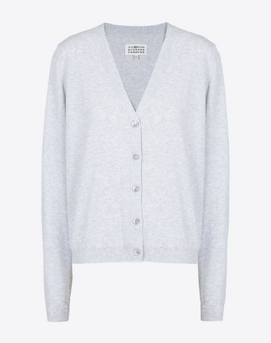 MAISON MARGIELA Cardigan D Cotton V-neck cardigan f