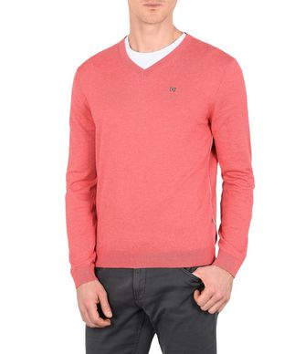 NAPAPIJRI DECATUR V NECK MAN V-NECK SWEATER,CORAL