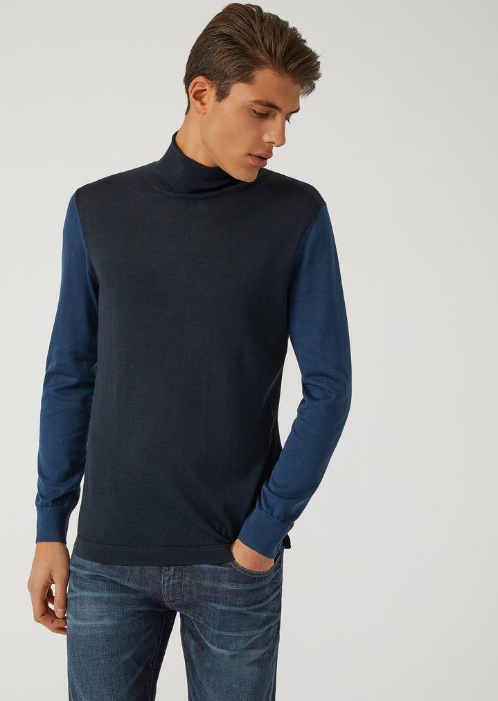 c446bcfe62a4 EMPORIO ARMANI LIGHTWEIGHT COTTON AND SILK KNIT SWEATER Sweater Man f