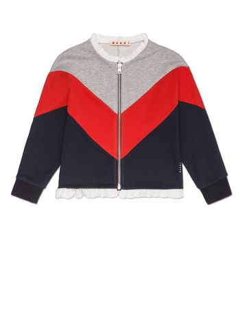 Marni LONG SLEEVES SWEATER IN COTTON FULL ZIP OPENING Woman