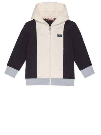 Marni SWEATER FULL ZIP IN COTTON WITH PATCH Man