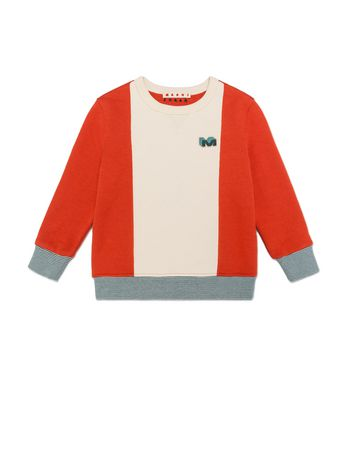 Marni SWEATER IN COTTON WITH PATCH Man