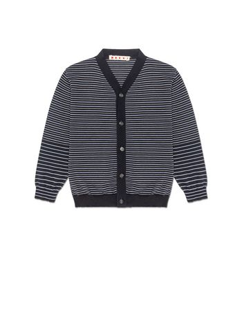 Marni CARDIGAN IN STRIPED COTTON Man