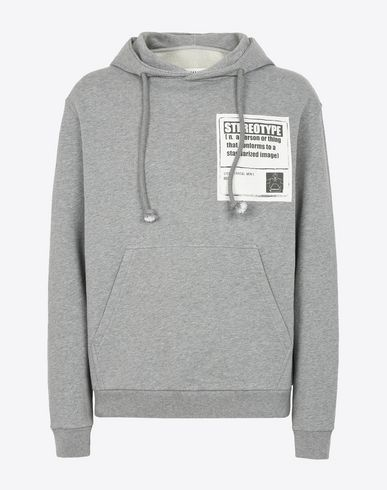 "MAISON MARGIELA Hooded sweatshirt U ""Stereotype"" cotton sweatshirt f"