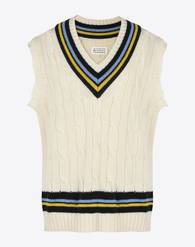 MAISON MARGIELA V-neck U Short sleeve cricket sweater f