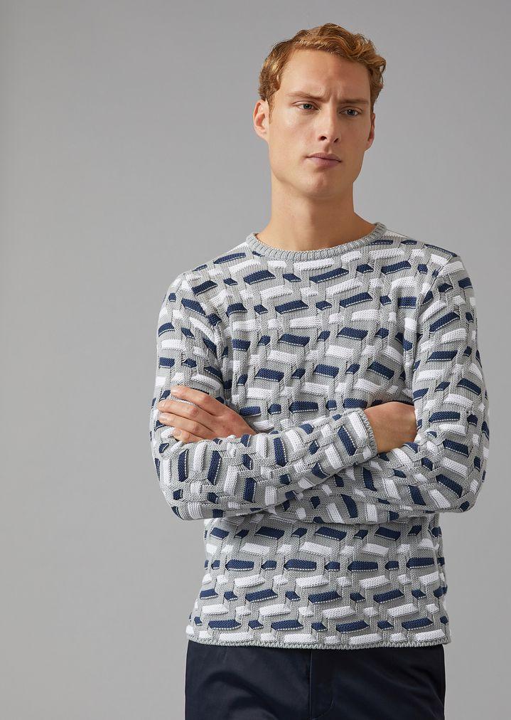 c441136dea08 Cotton and Cashmere Sweater   Man   Giorgio Armani