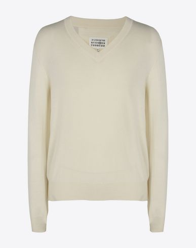 MAISON MARGIELA Long sleeve sweater U Cotton-wool blend V-neck sweater f