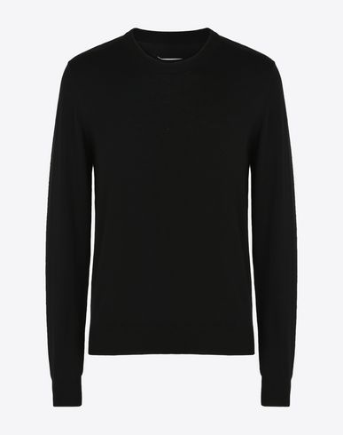 MAISON MARGIELA Long sleeve sweater U Cotton sweater with elbow patches f