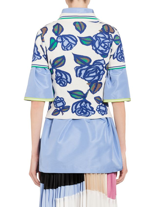Marni Polo in viscose with floral pattern Woman