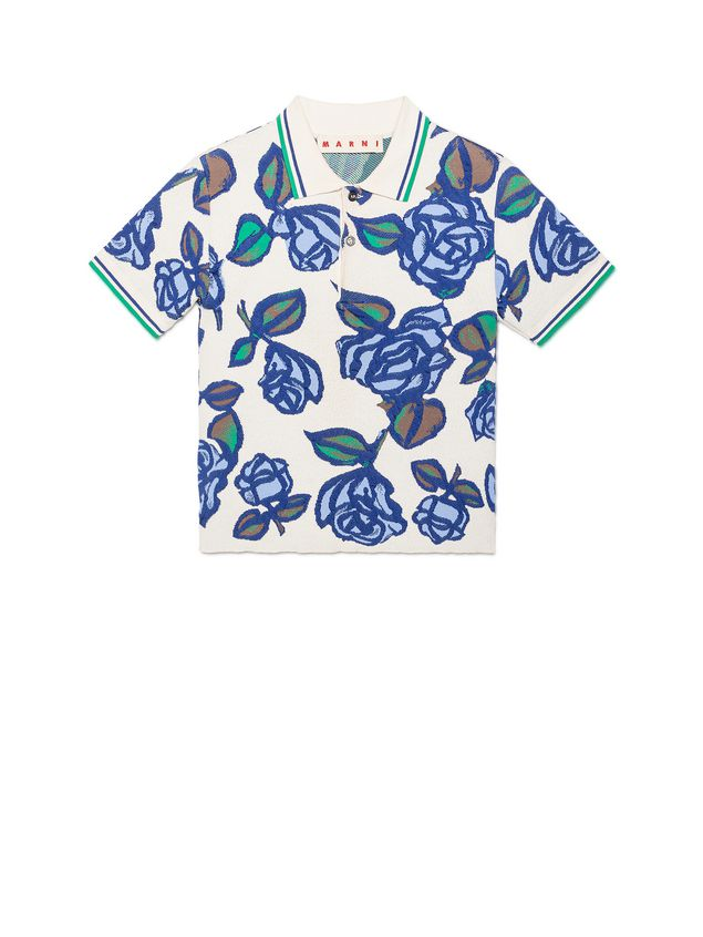 Marni Polo in viscose with floral pattern Woman - 2