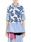 Marni Polo in viscose with floral pattern Woman - 1