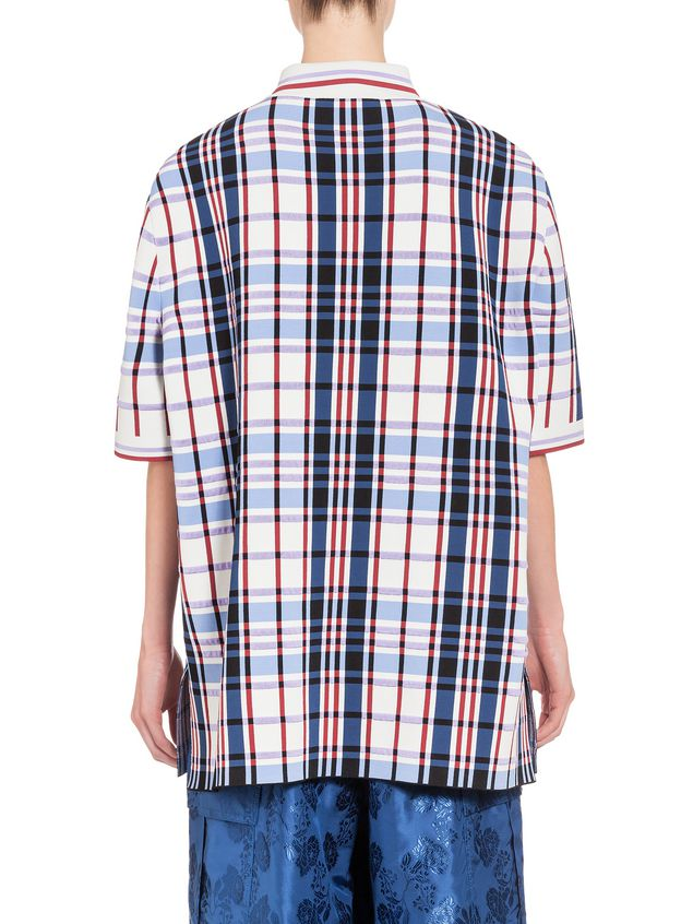Marni Oversize polo shirt in viscose with two-color trim Woman