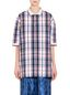 Marni Oversize polo shirt in viscose with two-color trim Woman - 1