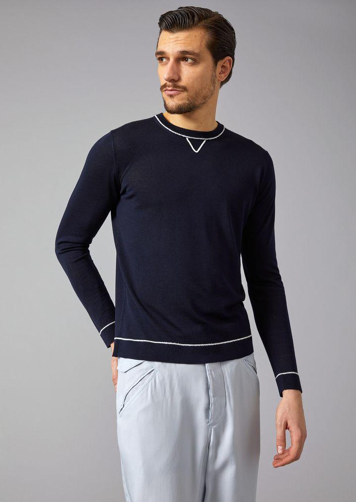 ae6bfcbd Jumper in wool and silk | Man | Giorgio Armani