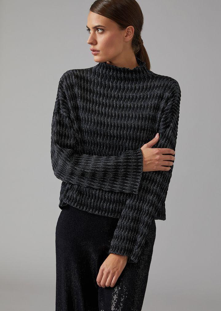 7c7c3124d61ebb Jumper in diamond knit | Woman | Giorgio Armani