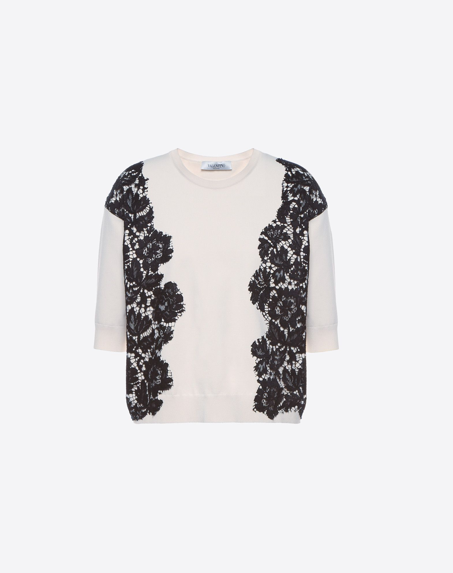 VALENTINO Heavy lace sweater Knitwear D f