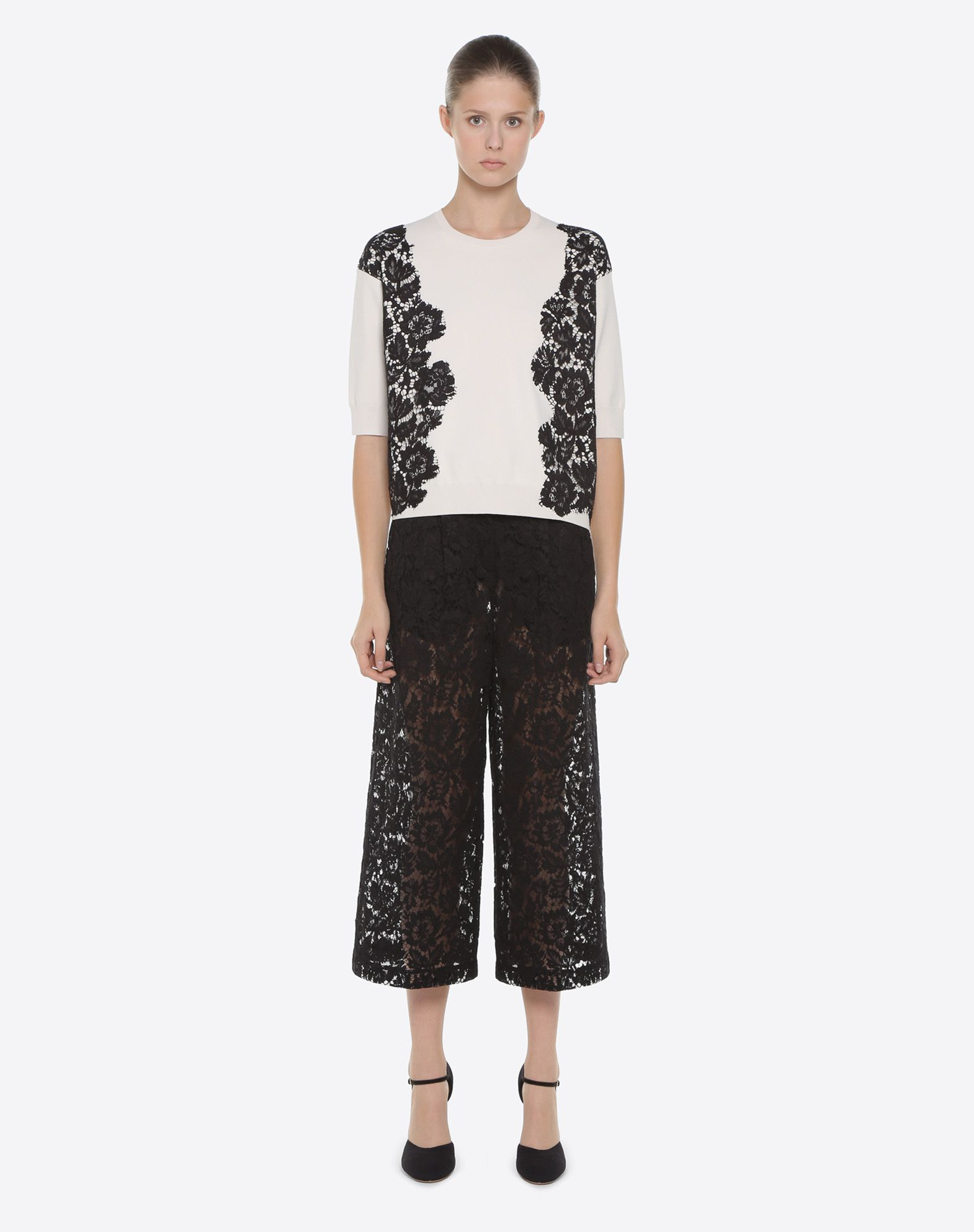 VALENTINO Heavy lace sweater Knitwear D r