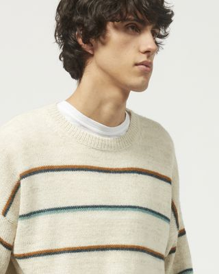 ISABEL MARANT LONG SLEEVE SWEATER Man OBLI striped sweater r