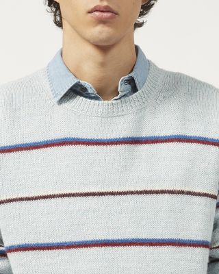 ISABEL MARANT LONG SLEEVE JUMPER Man OBLI striped jumper r